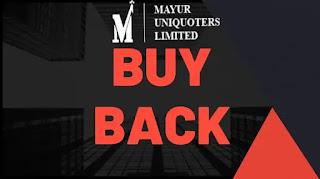 mayur uniquoters buyback 2020