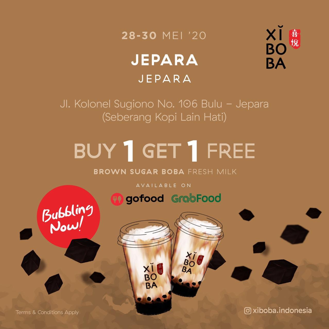 Promo Xiboba Grand Opening Jepara Beli 1 Gratis 1!
