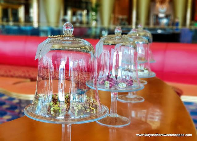 Arabic sweets in Sahn Eddar's lounge