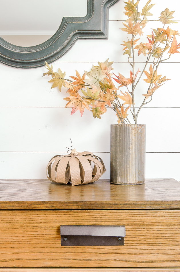 diy pumpkins, fall, cardboard pumpkin