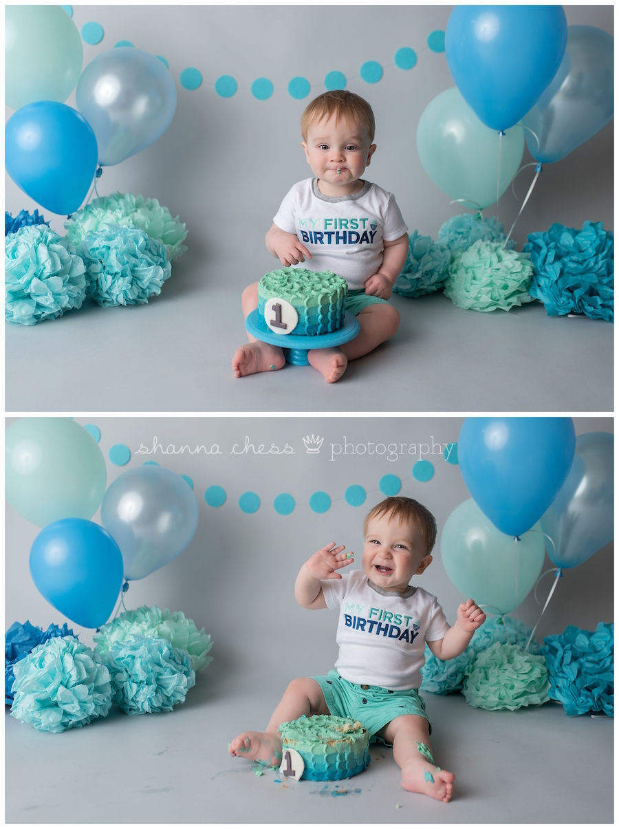 eugene oregon baby photographer cake smash
