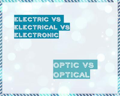 разница между optic и optical