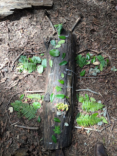 butterfly made of leaves - An Outdoor Project Inspired by Andy Goldsworthy that Kids Can Do at Home