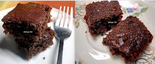 Eggless Choco Coffee Brownie Cake