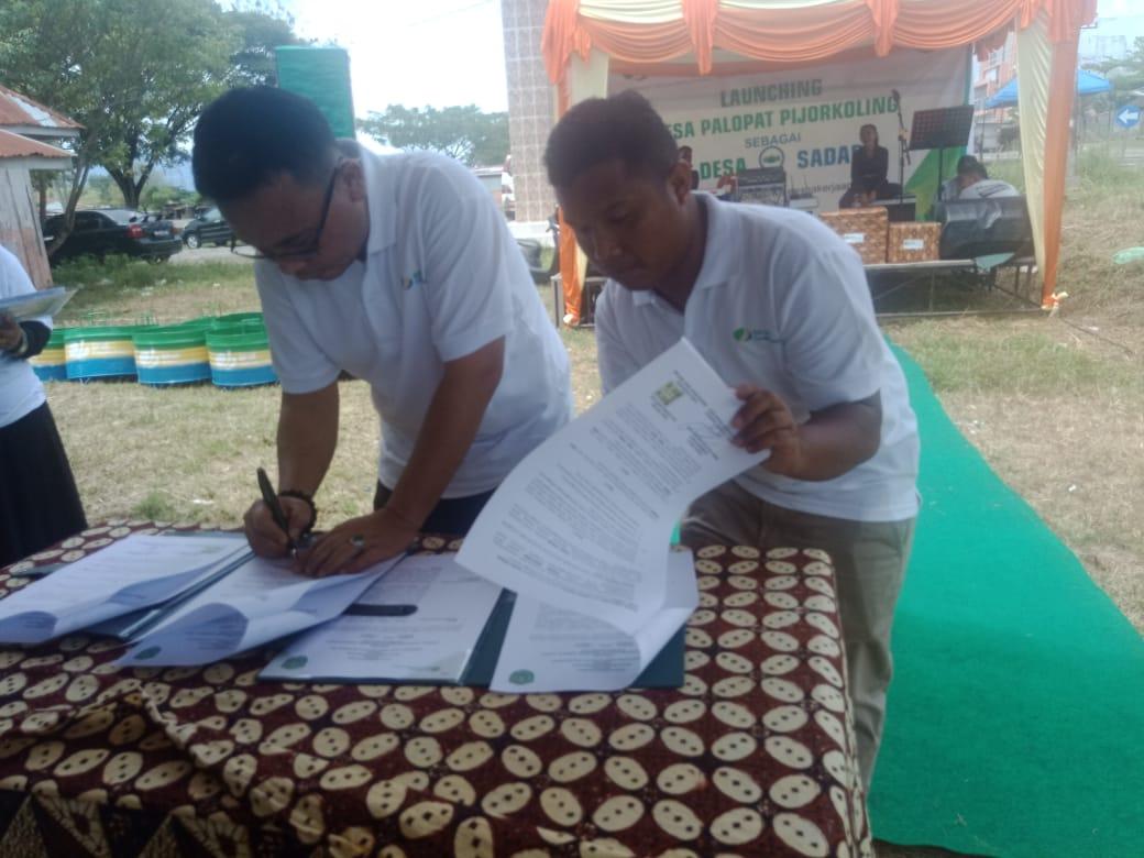 Desa Palopat Pk Dan Kepala Bpjs Ketenagakerjaan Teken Mou Sadar Jaminan Sosial Tenaga Kerja Poskotasumatera Com