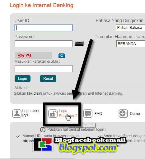 cara menuju ke halaman login ibank bni online