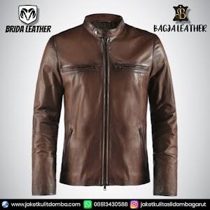 Jual Jaket Kulit Asli Garut Pria Domba Original Brida Leather B31   WA 08813430588