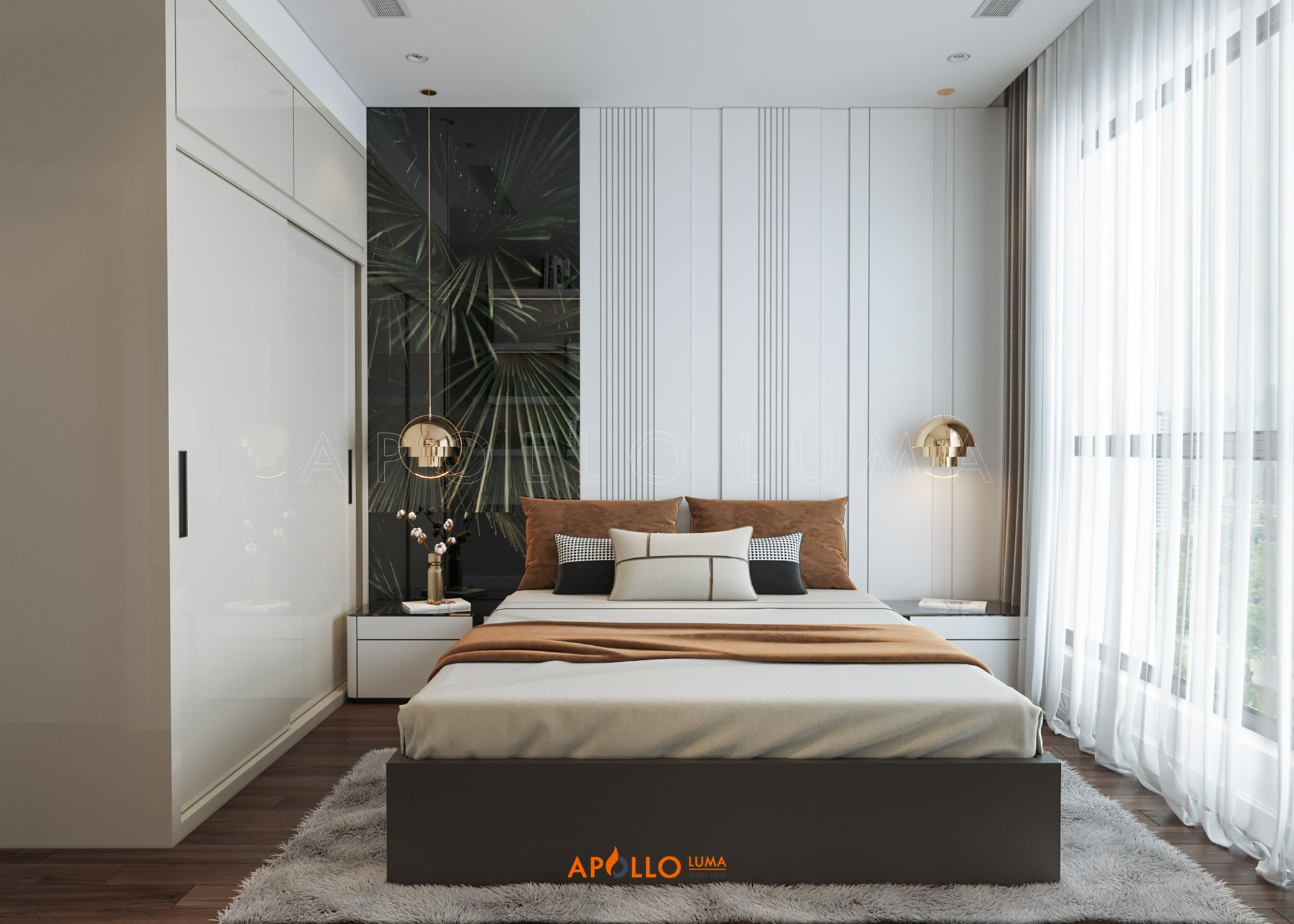 Thiết kế phòng ngủ phong cách Minimalism căn hộ Vinhomes West Point
