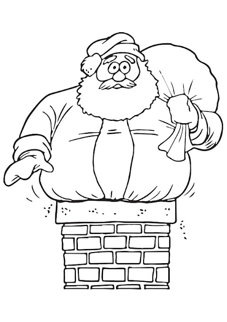 Xmas Santa Coloring Pages
