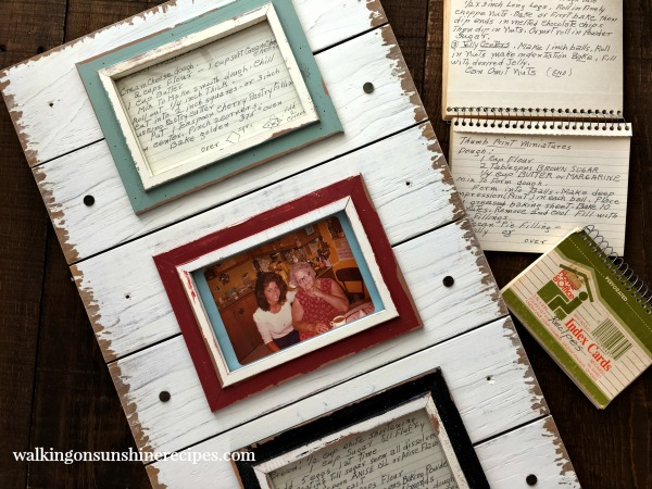 Project:  DIY Kitchen Art from Old Family Recipes from Walking on Sunshine.