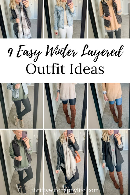 Easy winter layering outfits #winteroutfits #lay