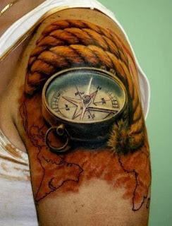 3d тату компас