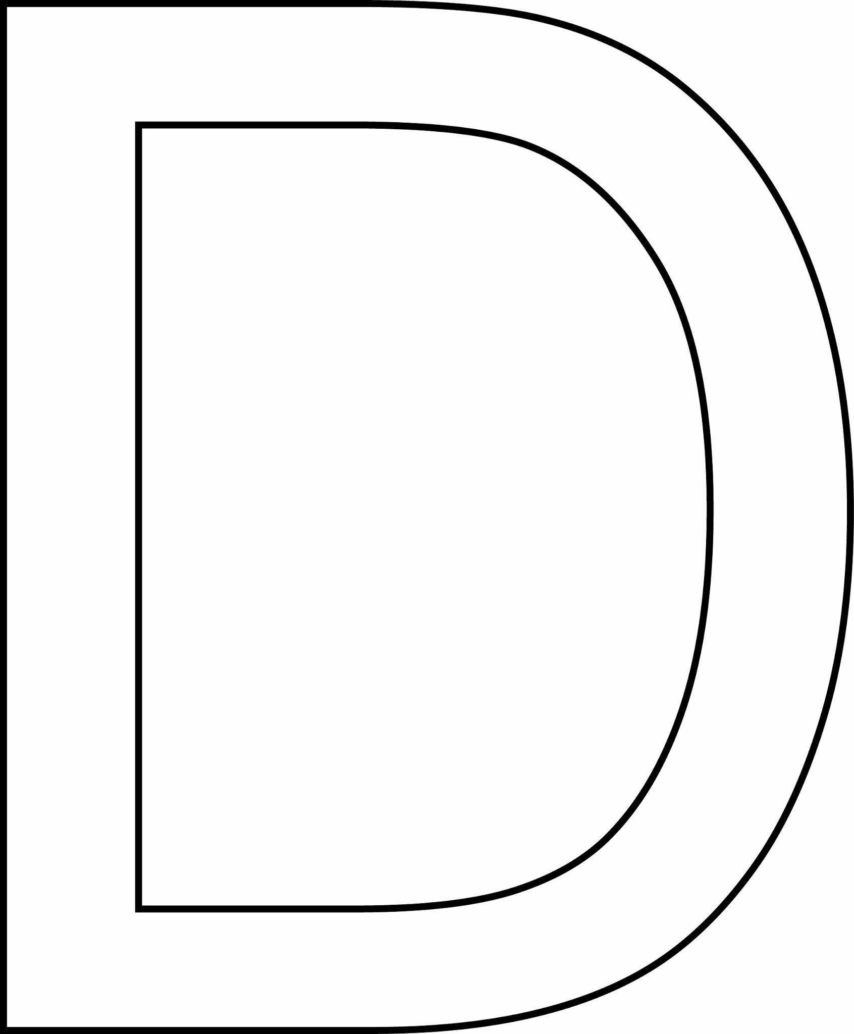 Letra d - maiúscula para imprimir