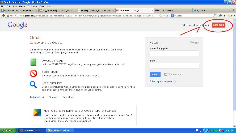 AL MAQDIS desain grafis: Membuat Akun gmail