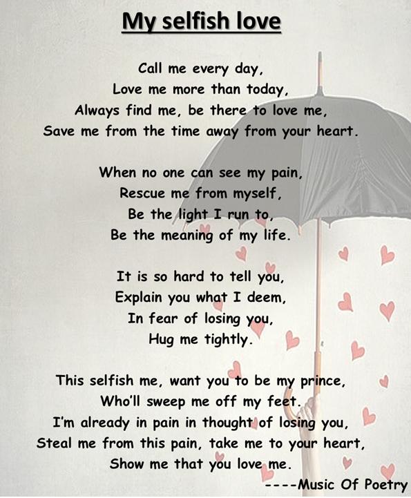 selfish love music of poetry