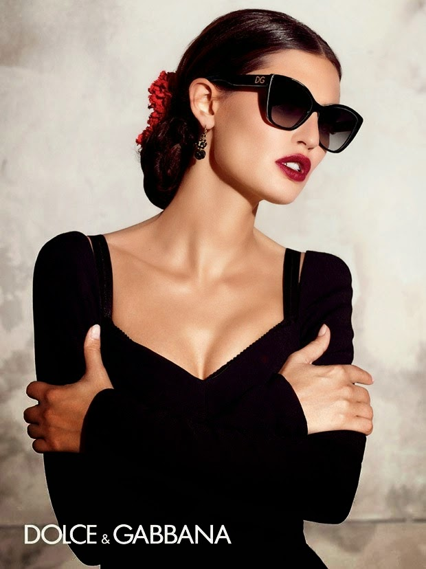 14f2c55c5a70 Bianca Balti goes glamorous for the Dolce   Gabbana Eyewear Spring ...