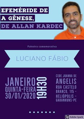 Efeméride de A GÊNESE - palestra com Luciano Fábio