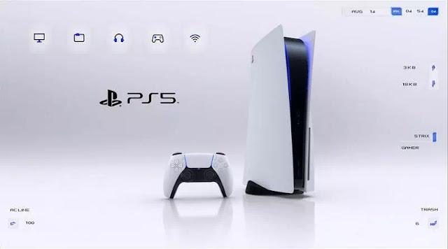 Playstation 5 skin Rainmeter