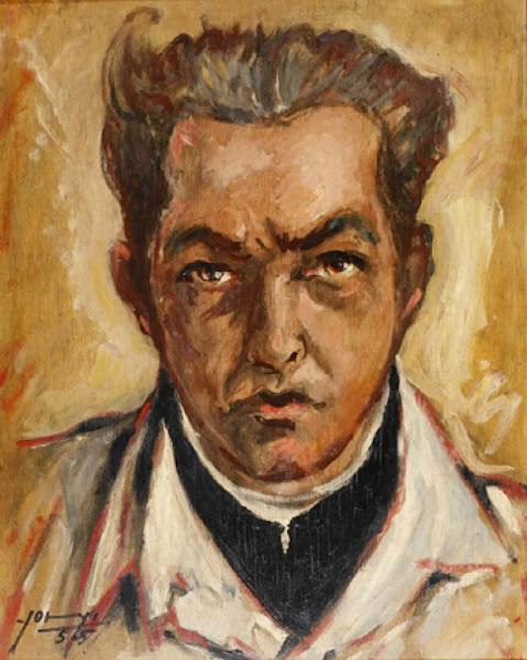 Autorretrato, Yoryi Morel, 1955