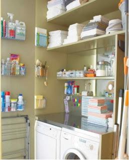 ideas para acondicionar el área de lavandería, como organizar un área de lavandería, diseños de áreas de lavandería