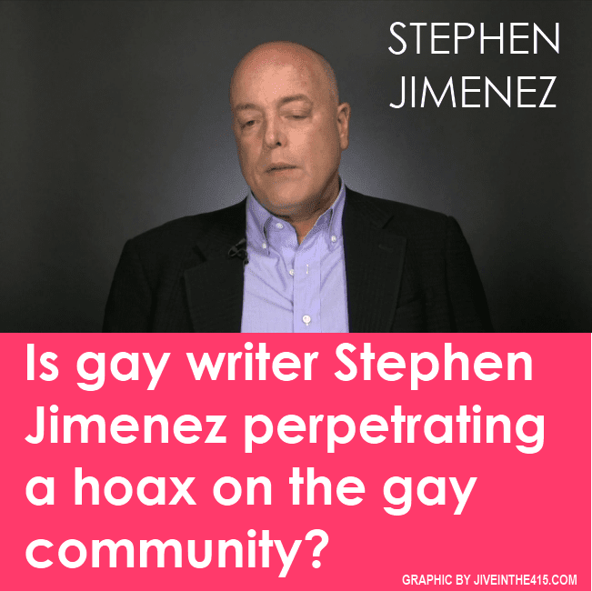 "Gay writer Stephen Jimenez is the author of ""The Book of Matt"""