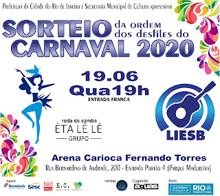 Flyer do Sorteio da LIESB para o Carnaval 2020