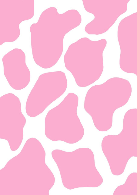 pink cow print wallpaper