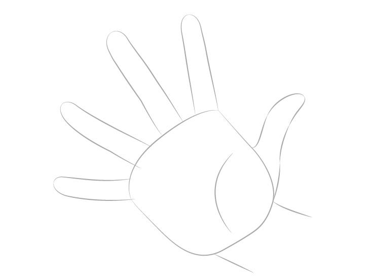 Tangan casting jari menggambar