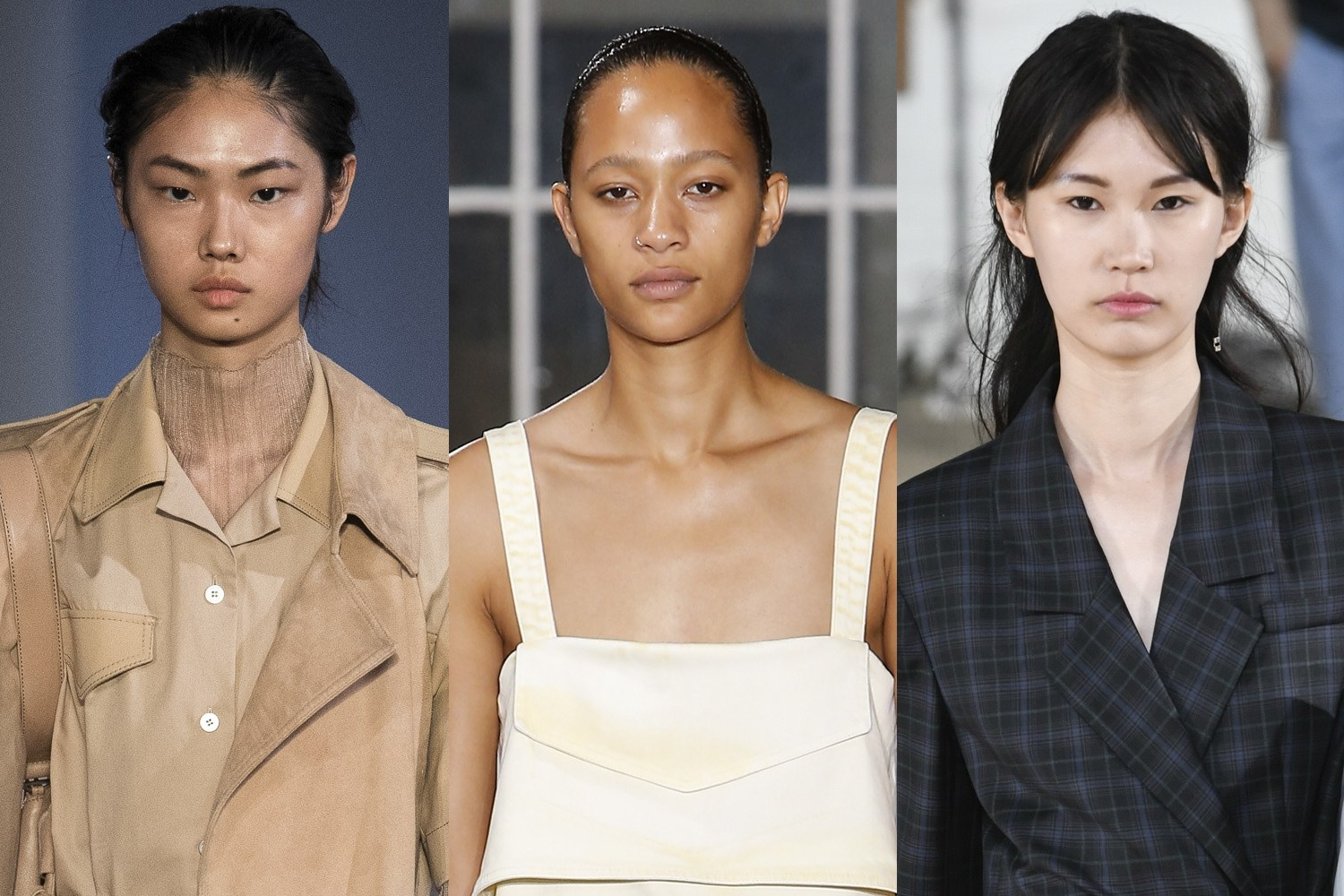 Makeup at  Dion Lee, Proenza Schouler, Tibi fashion runway shows