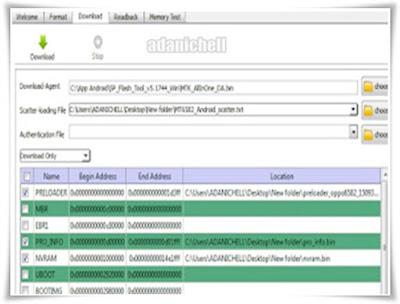 Cara Flash Vivo Y22 PD1309W Tested Via FlashTool