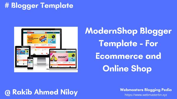 Modernshop Blogger Template for Ecommerce and Online Shop