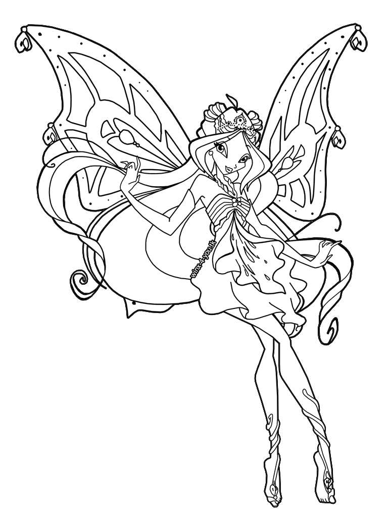 Winx Club Coloring Pages Enchantix Online Timer