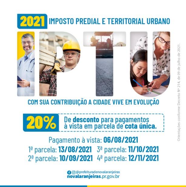 Nova Laranjeiras: Prefeitura anuncia desconto de até 20% para pagamento do IPTU