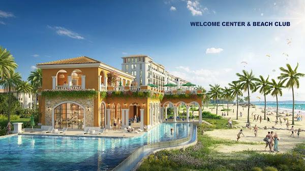 phối cảnh khu center beach club tại dự án Habana Island Hồ Tràm