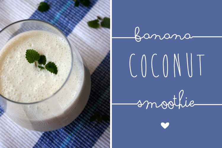 Kochkarussell: Banana Coconut Smoothie