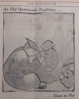 Editorial Cartoon reading 'An Old Dartmouth Tradition ... Goes to Pot'