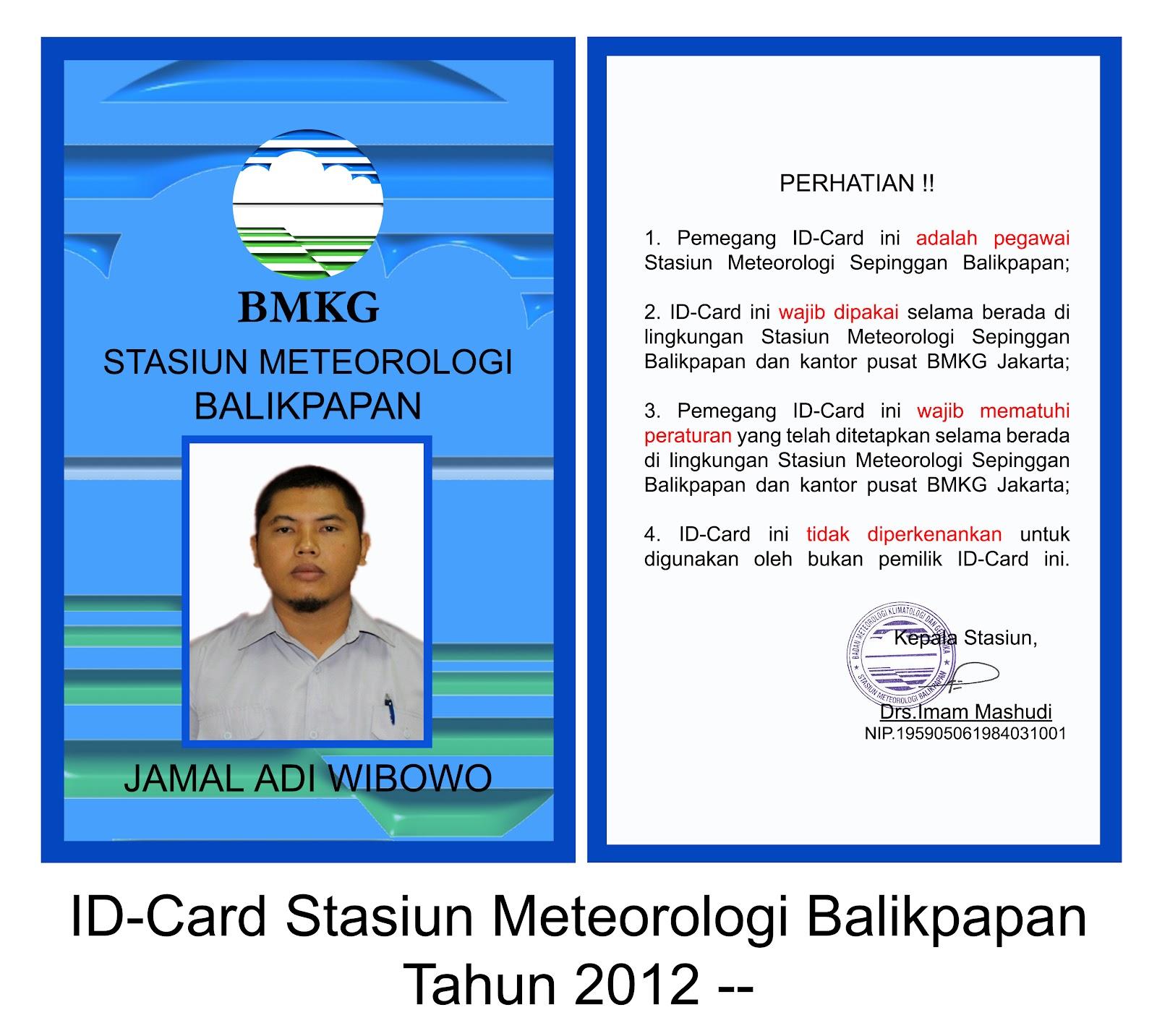 Contoh Id Card Slank - Contoh O