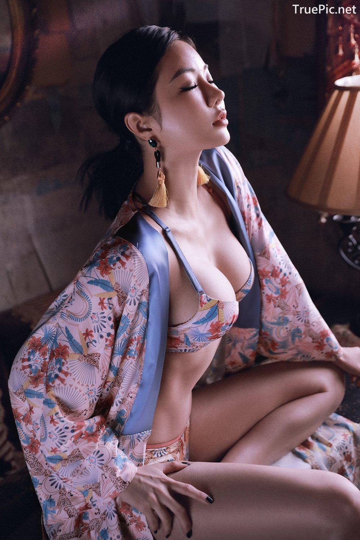 Image Korean Fashion Model - An Seo Rin - Floral Lingerie - TruePic.net - Picture-6