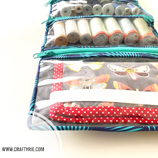 A cute way to personalise your sewing thread storage by CraftyRie.com