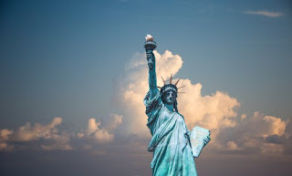 The statue of liberty, the US
