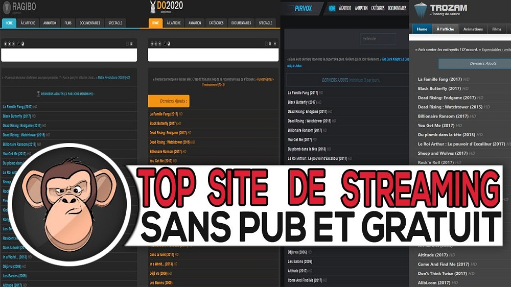 Trouver son site - Site streaming HD gratuit