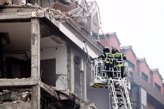 Foto edificio explosion madrid 2