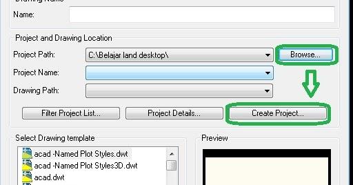 Tutorial autocad land desktop 2009,cara memulai project ...
