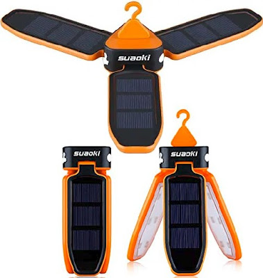 Suaoki Lanterns: Foldable Solar LED Lamp for Outdoor Activities - Rechargeable Camping Lights