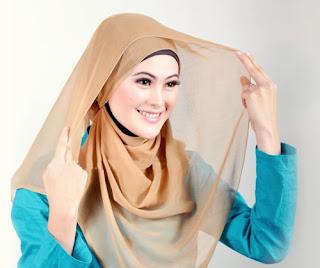 Cara Memakai Hijab Modern Simple