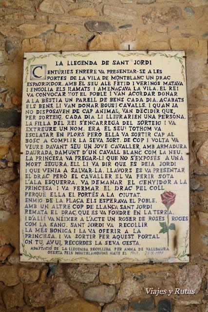 Leyenda de San Jorge, Montblanc