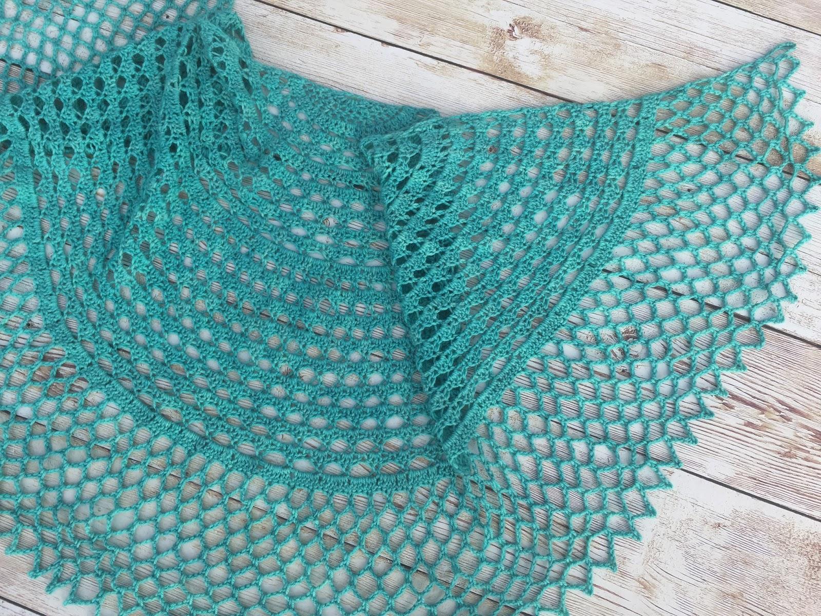 Knitting Like Crazy: My First Crochet Shawl Pattern