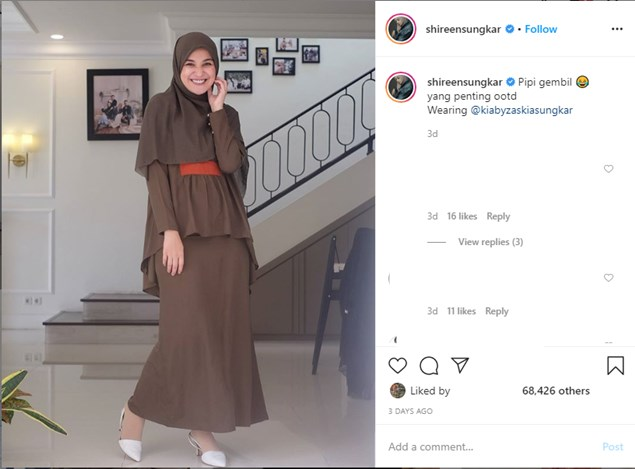 Outfit Simple Dan Manis A La Shireen Sungkar