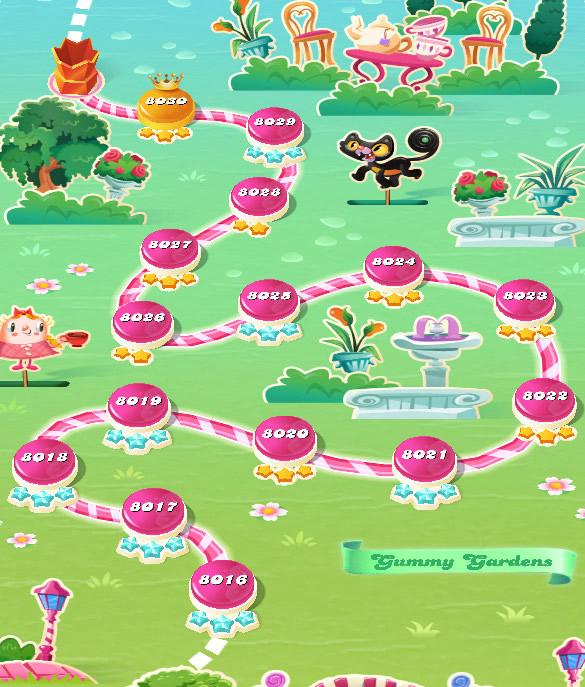 Candy Crush Saga level 8016-8030