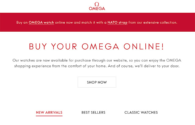 Omega launches its online shop in Europe